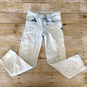 Zara splatter paint jeans